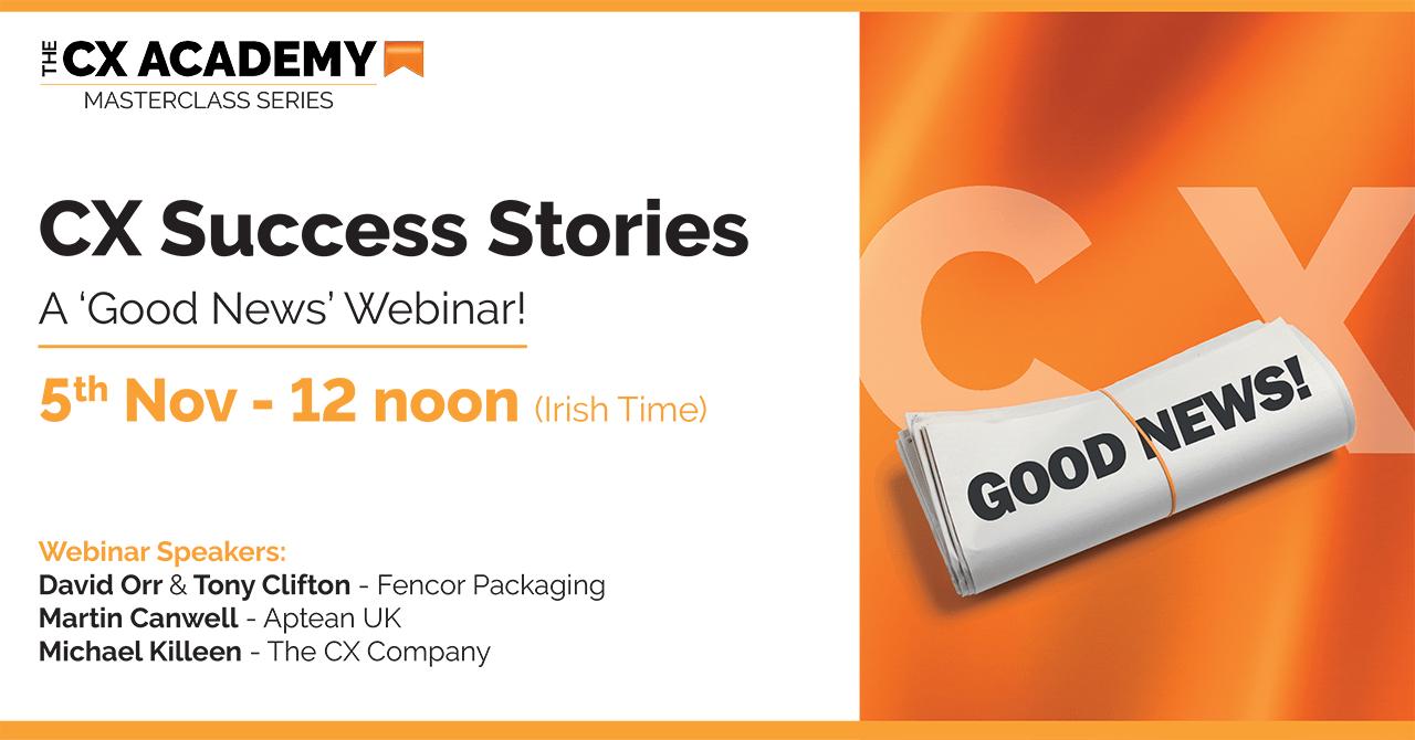 The CXA Social Webinar CX Success Stories NOV 2020